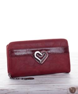 Bordó szívecskés női pénztárca