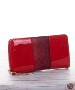 Piros lakk női pénztárca