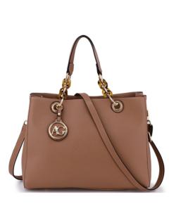 Anna Grace púder női divatos táska lánc pánttal