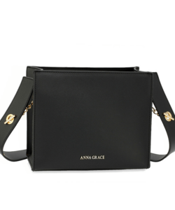 Anna Grace fekete női divatos válltáska