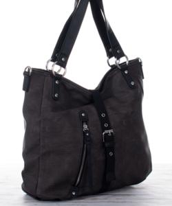 Sötét szürke olasz női táska