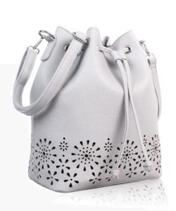 Virágmintás szürke női táska