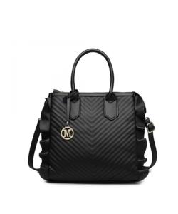 Miss Lulu fekete fodros divatos női táska