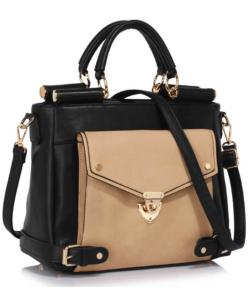 Anna Grace fekete-nude női divatos táska