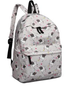 Miss Lulu unikornisos hátizsák szürke