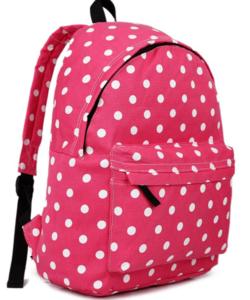 Miss Lulu pöttyös hátizsák rózsaszín