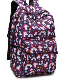 Miss Lulu unikornisos hátizsák lila