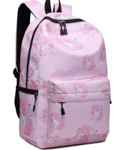 Miss Lulu unikornisos hátizsák pink