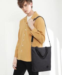 Miss Lulu Kono fekete nagy méretű canvas táska