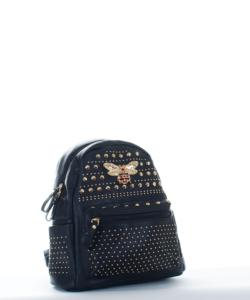 Fekete divatos női hátizsák