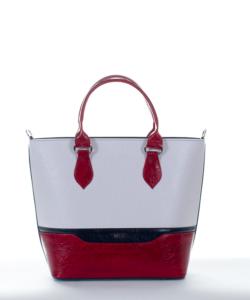 Via.55 fehér-s.kék-bordó női táska