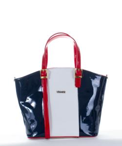 Via.55 fehér-s.kék-piros női táska