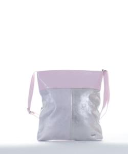 Via.55 v.rózsaszín-ezüst női oldaltáska