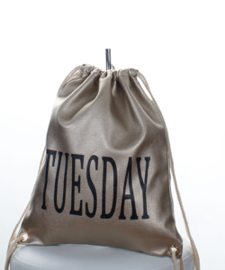Arany Tuesday divatos női tornazsák, hátizsák