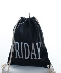 Fekete Tuesday divatos női tornazsák, hátizsák
