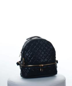 Fekete steppelt női divatos hátizsák
