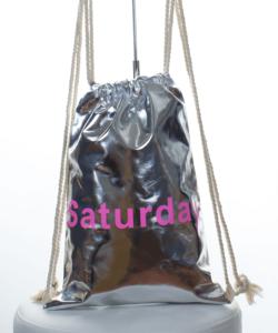 Ezüst saturday tornazsák, hátizsák 44 cm