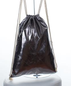 Ezüst fényes tornazsák, hátizsák 44 cm