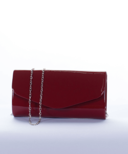 Bordó lakk alkalmi női táska