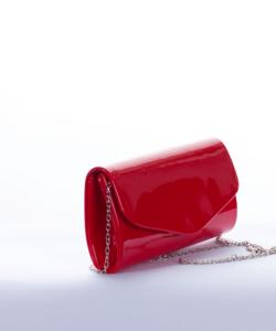 Piros lakk alkalmi női táska
