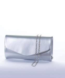 Ezüst lakk alkalmi női táska