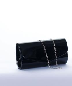 Fekete lakk alkalmi női táska