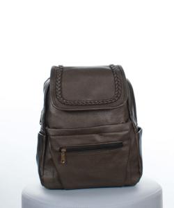 Bronz fonott mintás női hátizsák