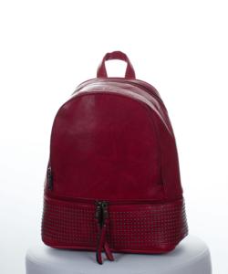 Élénk piros díszköves női hátizsák