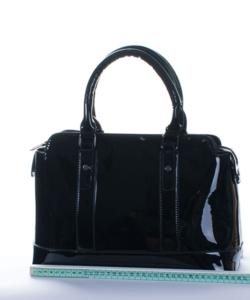 Fekete  lakk  női táska