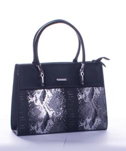 Silvia rosa fekete piton mintás női táska