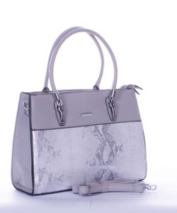 Silvia rosa szürke piton mintás női táska