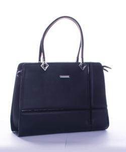 Silvia rosa fekete lakkbetétes női táska