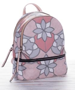 Virágmintás púder női hátizsák