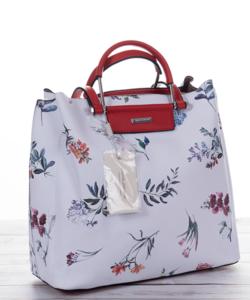 David Jones fehér női táska virágmintával