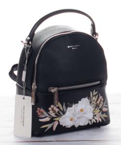 David Jones hátizsák virágos, fekete színben