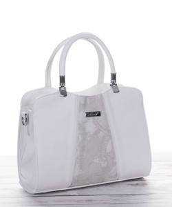 Karen táska, fehér színben, kézi és válltáska