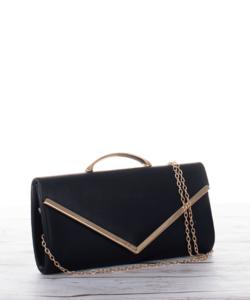 Alkalmi női kézi táska fekete színben