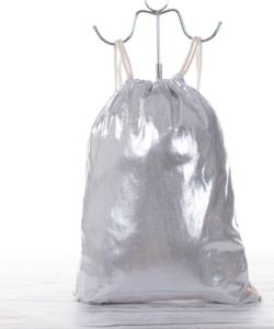 Csillámos ezüst női divat tornazsák