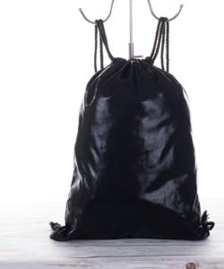 Csillámos fekete női divat tornazsák