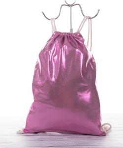 Csillámos pink női divat tornazsák
