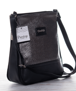 Prestige táska fekete-ezüst színben