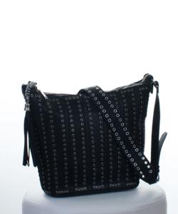 Fekete szegecses női táska