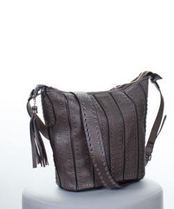 Bronz szegecses női táska