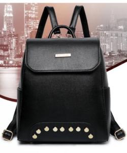 Fekete szegecses női divat hátizsák