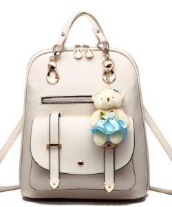 Elegáns női divat hátizsák kulcstartóval