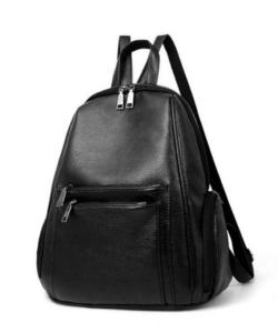 Fekete műbőr női divat hátizsák