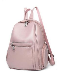 Rózsaszín műbőr női divat hátizsák