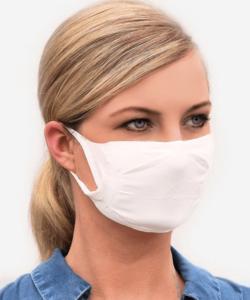 Cserélhető szűrős textil maszk FFP2 betéthez, 2 rétegű, mosható fehér