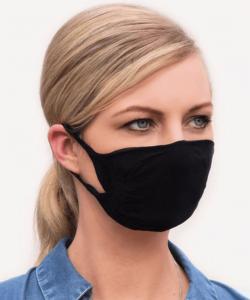 Cserélhető szűrős textil maszk FFP2 betéthez, 2 rétegű, mosható fekete