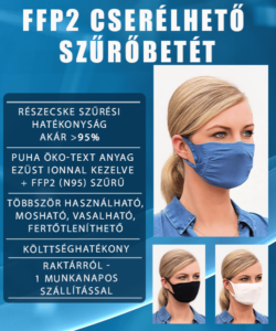 FFP2 szűrőbetét cserélhető szűrős maszkokhoz